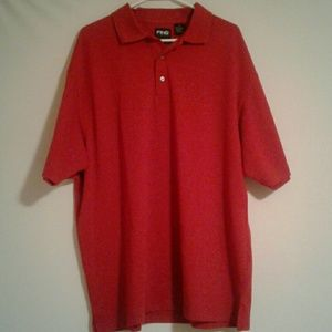 Red, Ping Collection XL Golf Shirt